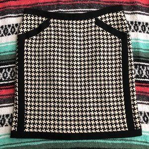 DKNY Wool Houndstooth Skirt
